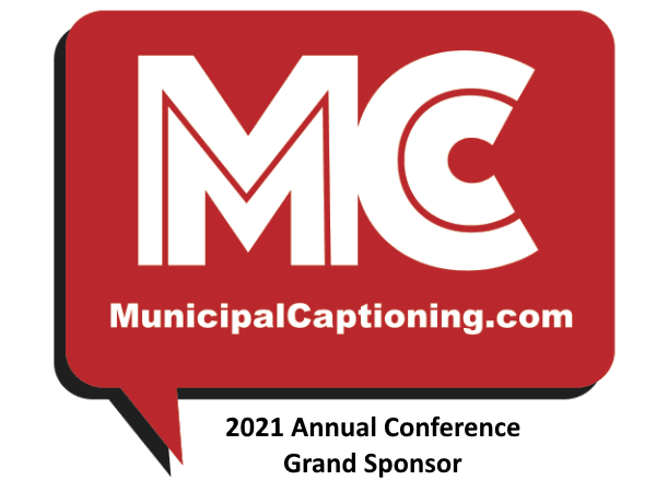 2021 Annual Conference Grand Sponsor - Municipal Captioning