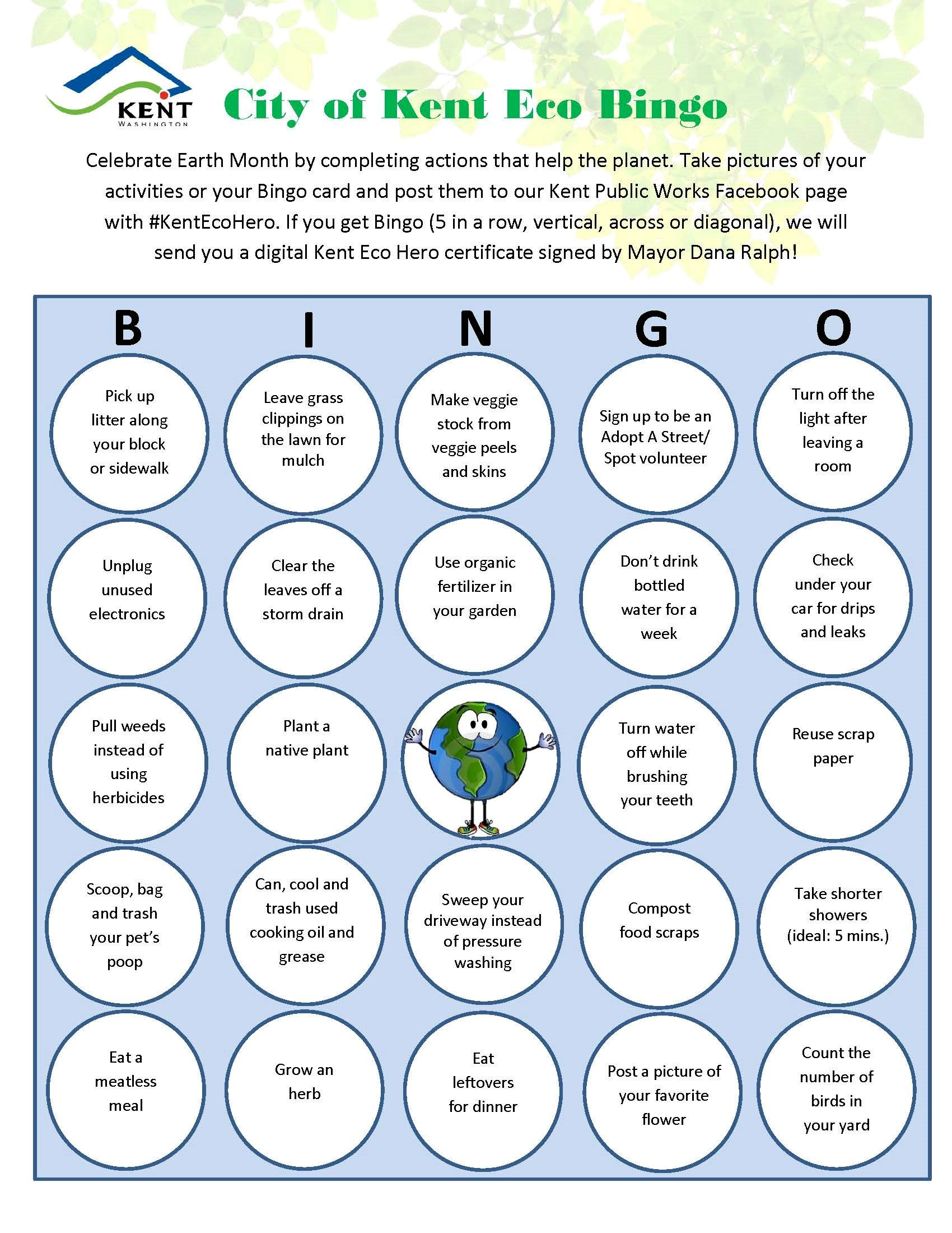 Eco Bingo - Kent Public Works - 6-12-20 Blog